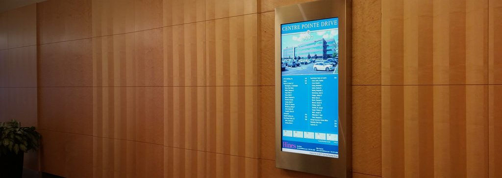 Portrait Lobby Directory Stainless Steel Frame