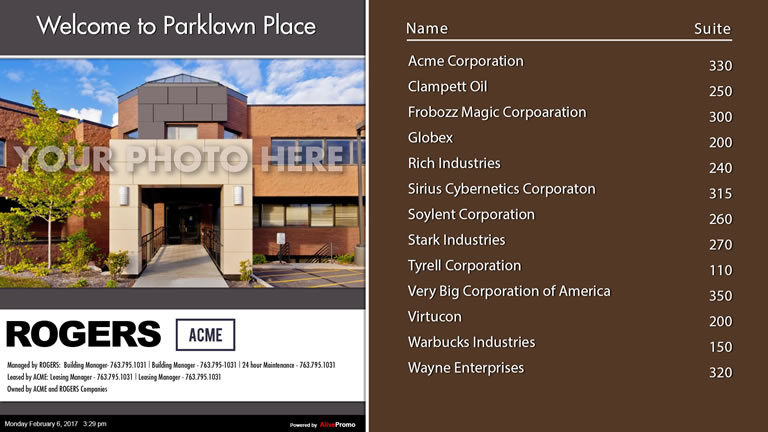 Landscape Template Brown with Building Picture