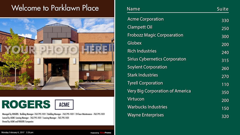 Landscape Template Green with Building Picture