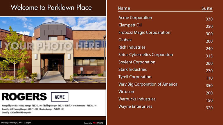 Landscape Template Red with Building Picture
