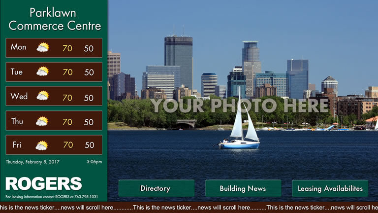 Interactive Landscape Template Green with Picture