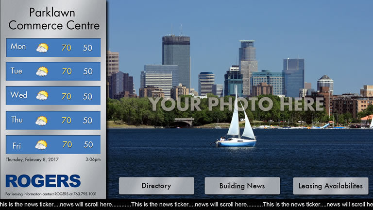 Interactive Landscape Template Grey with Picture