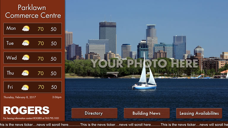 Interactive Landscape Template Red with Picture