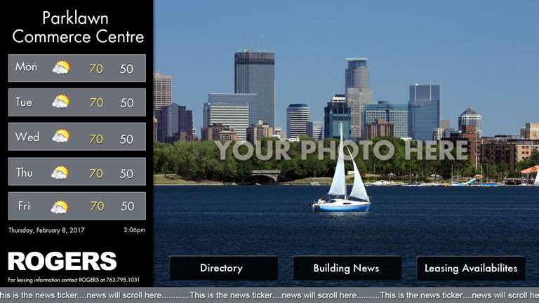 Interactive Landscape Template Black with Picture