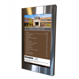 Building Directory - stainless steel frame portrait directory